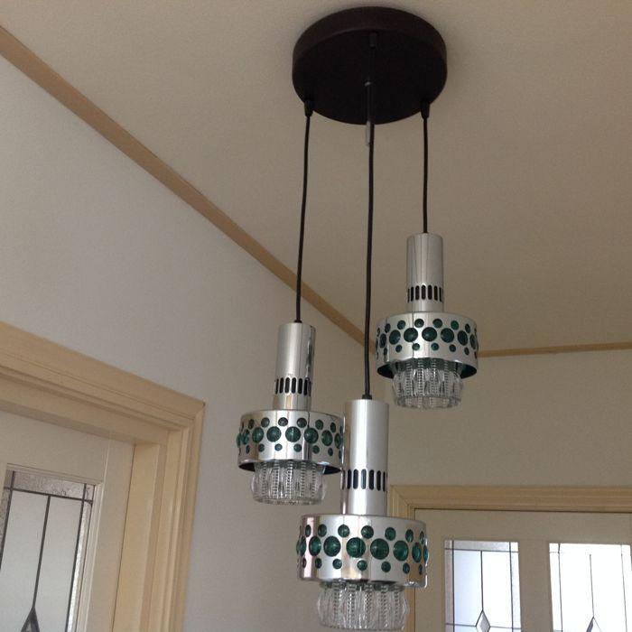 Massive Lighting Belgie Vintage Designlamp Met 3 Lichtpunten Schitterende Vintage Hanglamp Uit De Jaren 60 70 Gemaakt Do Ceiling Lights Pendant Light Decor
