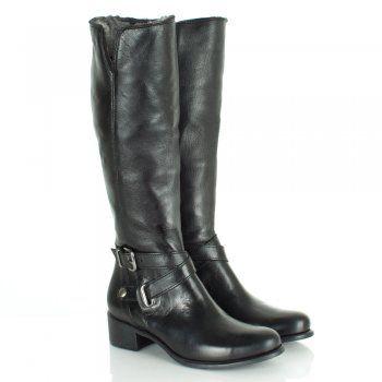 986cf0a12a495 Daniel Gooch Black Leather Knee High Boots   boots!   Boots, Knee ...