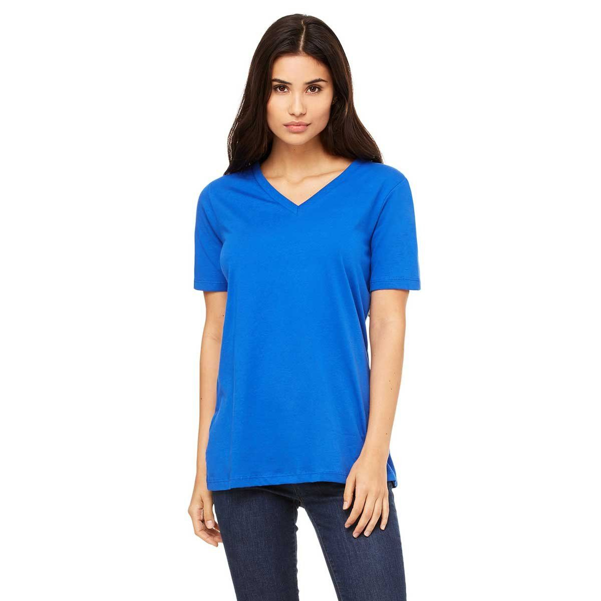Bella + Canvas Women's True Royal Relaxed Jersey Short-Sleeve V-Neck T-Shirt