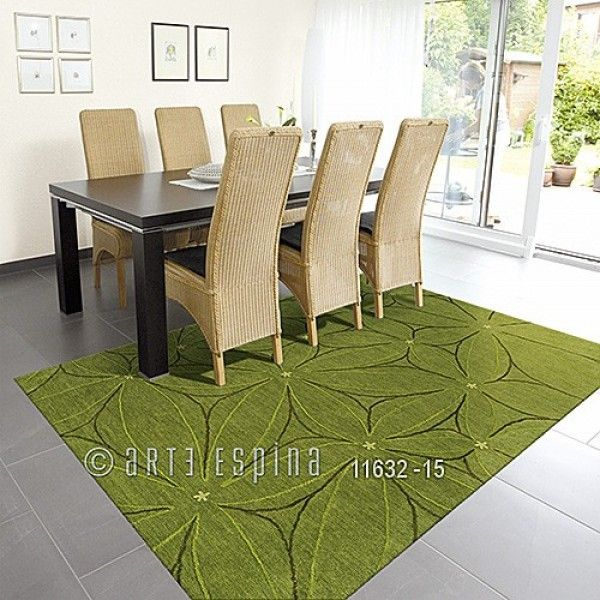 Tapis greenland floral vert arte espina 70x140 - Tapis Cosy Our