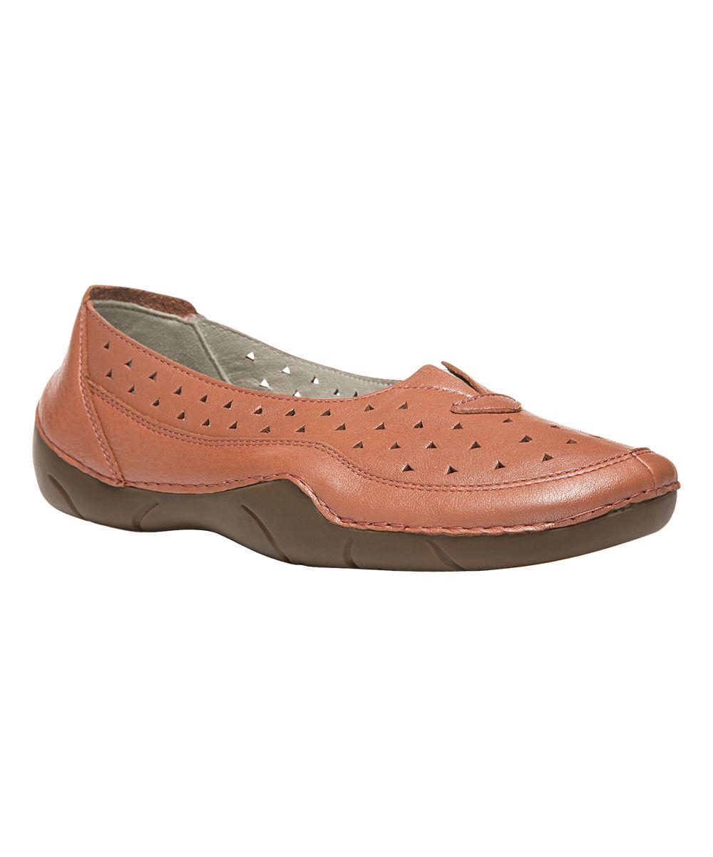 Metallic Melon Wren Leather Loafer - Women