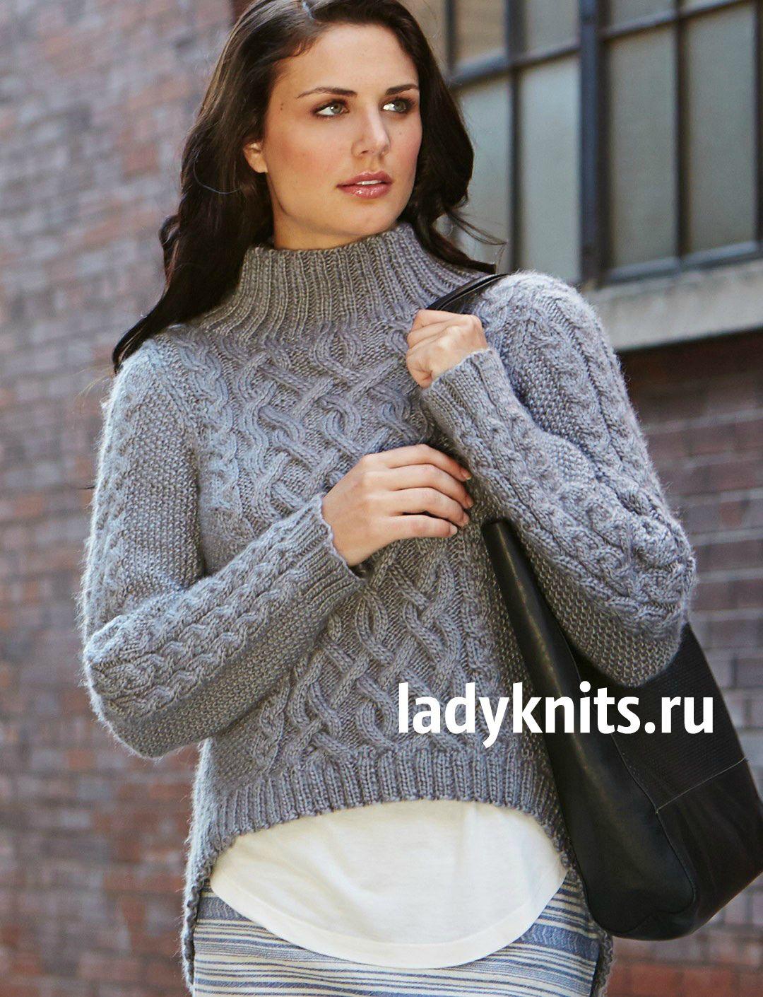 Как связать большой свитер спицами