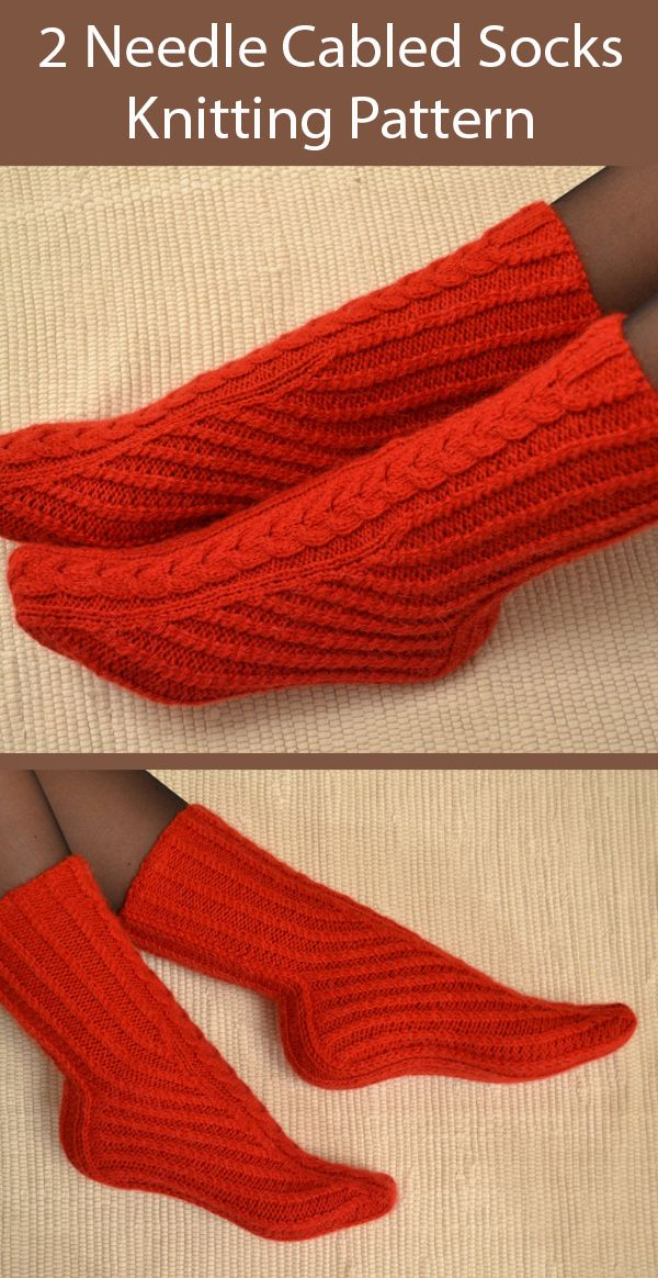 Two-Needle Sock Knitting Patterns - In the Loop Knitting ...