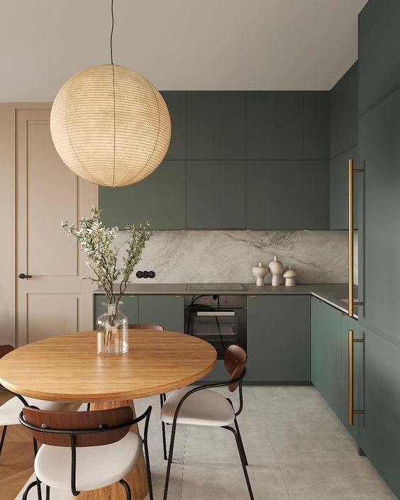 Особенности оформления кухни в зеленом цвете: дизайн-хаки и тренды-2020