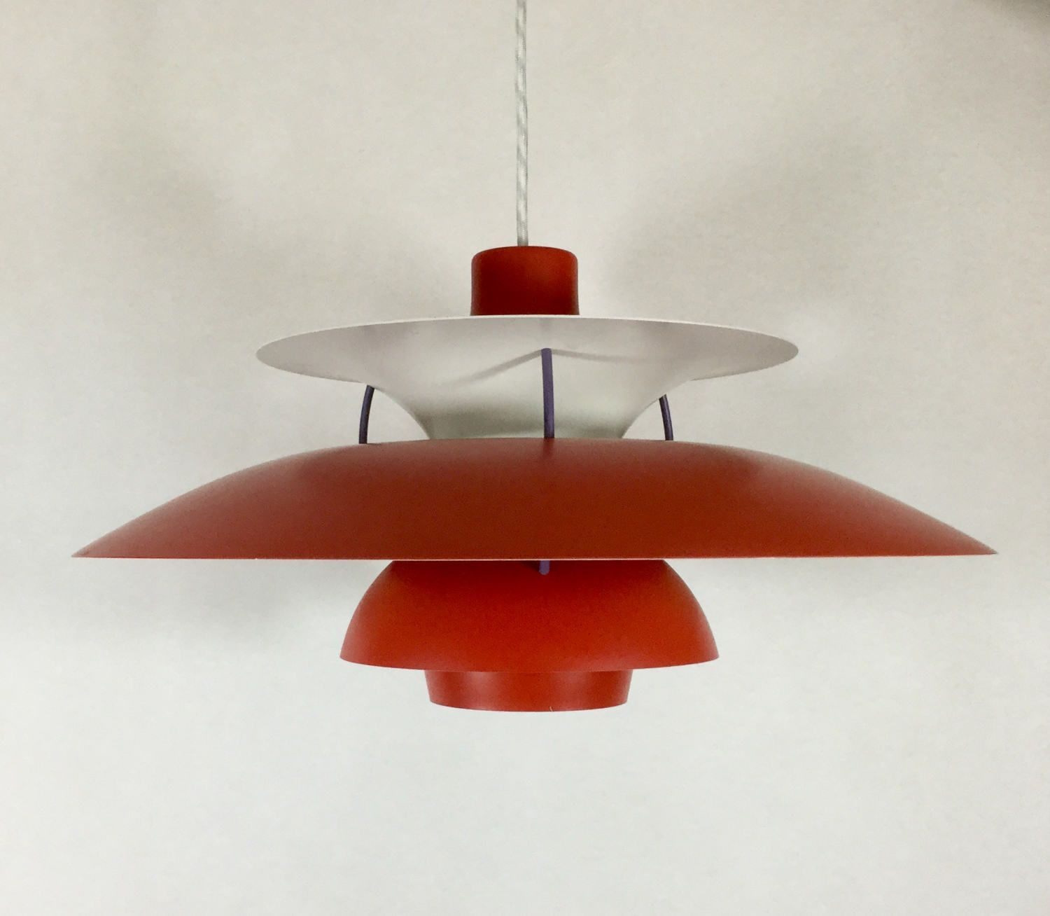 Original red danish ph5 pendant lamp light designed by poul original red danish ph5 pendant lamp light designed by poul henningsen produced by aloadofball Choice Image