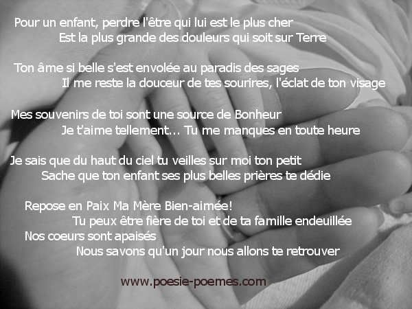 Texte Pour La Mort D Une Maman Texte Pour Maman Message