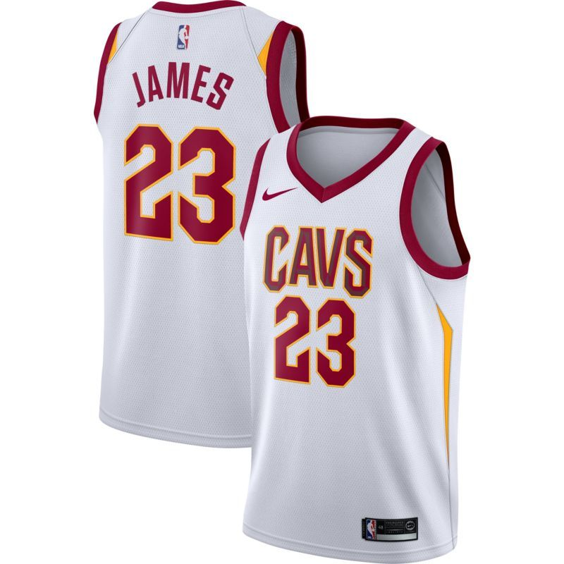 Nike Youth Cleveland Cavaliers LeBron James  23 White Dri-FIT Swingman  Jersey e7a5aef51