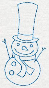 Jolly Snowman 1 design (UT11338) from UrbanThreads.com