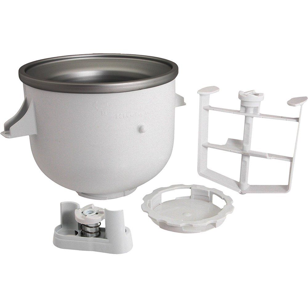 Kitchenaid Kica0wh Ice Cream Maker Attachment Includes Freeze Bowl Dasher And Drive Assembly New Walmart Com Kitchenaid Ice Cream Maker Kitchen Aid Ice Cream Ice Cream Maker