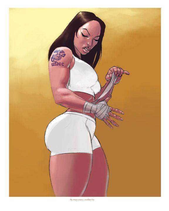 Sexy Cartoon schwarze Mädchen — foto 10