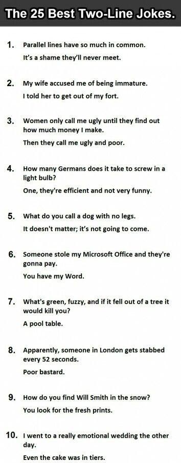 Line jokes 1 Clean Hilarious