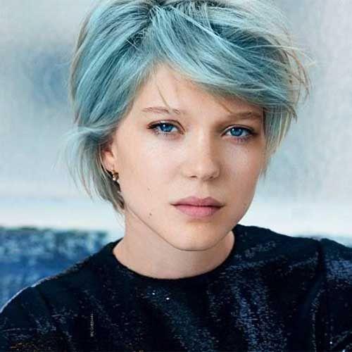 Lea Seydoux Blue Short Hair Jpg 500 500 Pixels Short Blue Hair Short Hair Styles Light Blue Hair