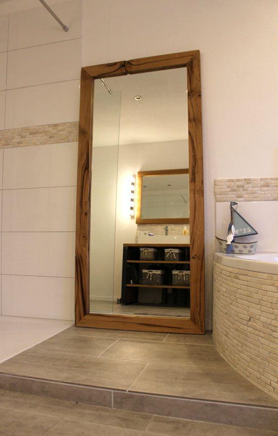 Altholz Wandspiegel Standspiegel Eiche Massiv Spiegel Mirror Wall Old Wood Home Decor