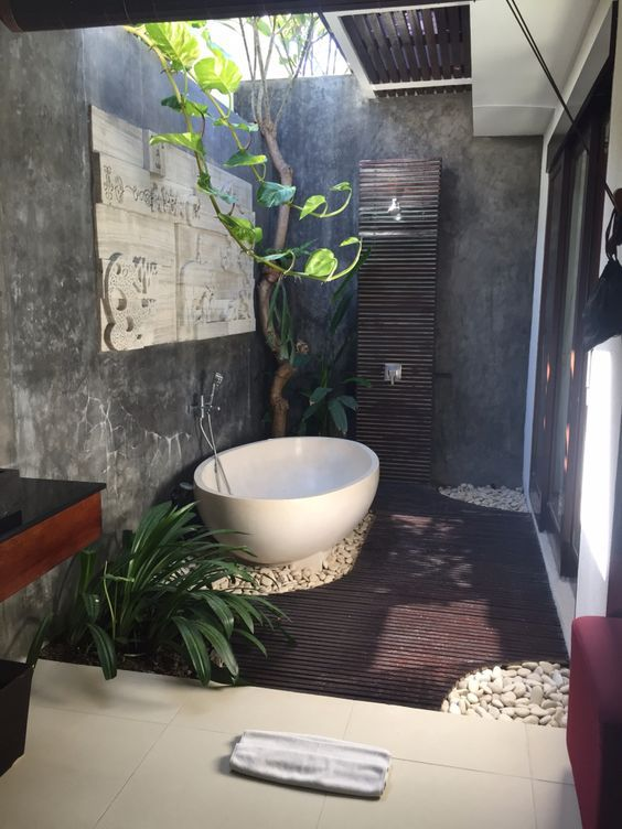 Pin By 子婷 徐 On 0118 Jumeirah Venu Bali Outdoor Bathroom Design Luxury Bathroom Master Baths Outdoor Bathroom Inspiration
