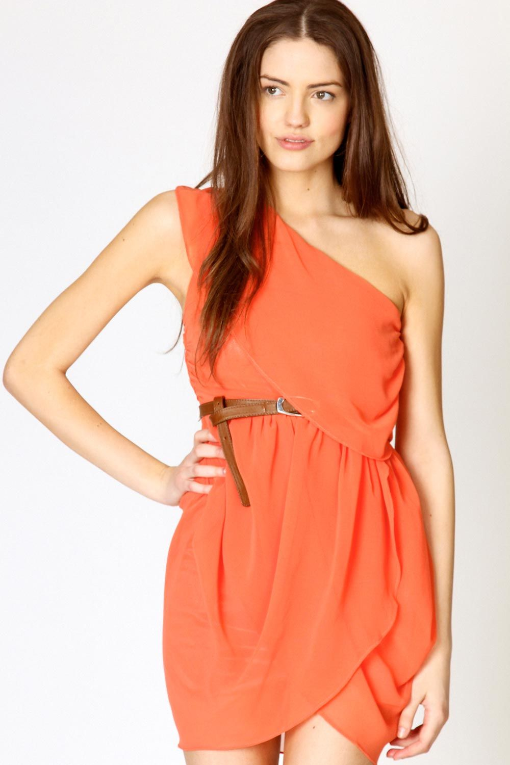 Orange Dress #2dayslook #kelly751 #OrangeDress www ...