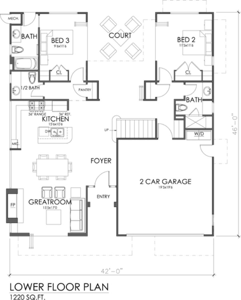 1845 sq ft 3 beds 3.50 baths 2 Fl   Floor plans   Pinterest   Bath ...