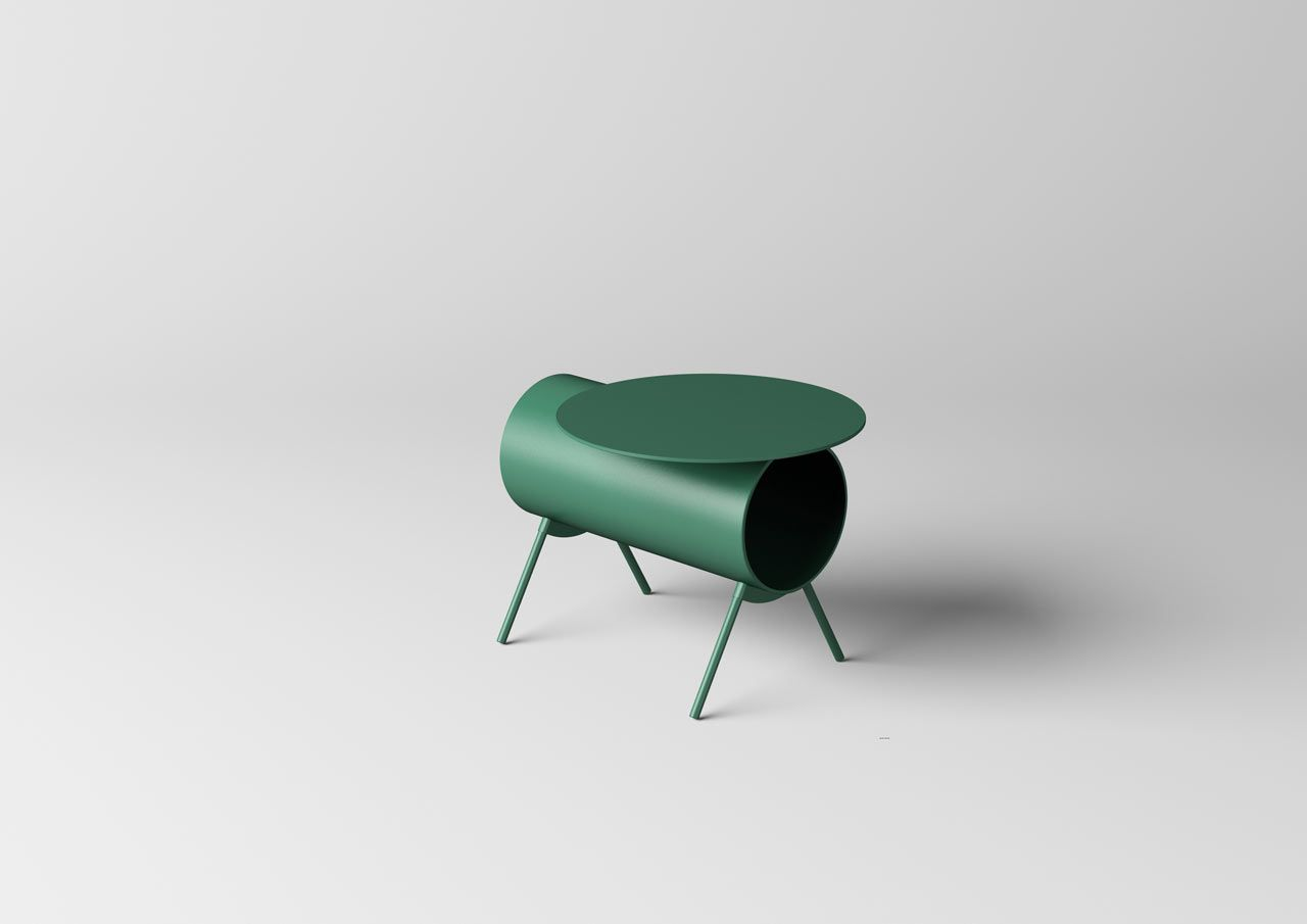 mario tsai s pig side table was inspired by the piggy bank green rh pinterest com