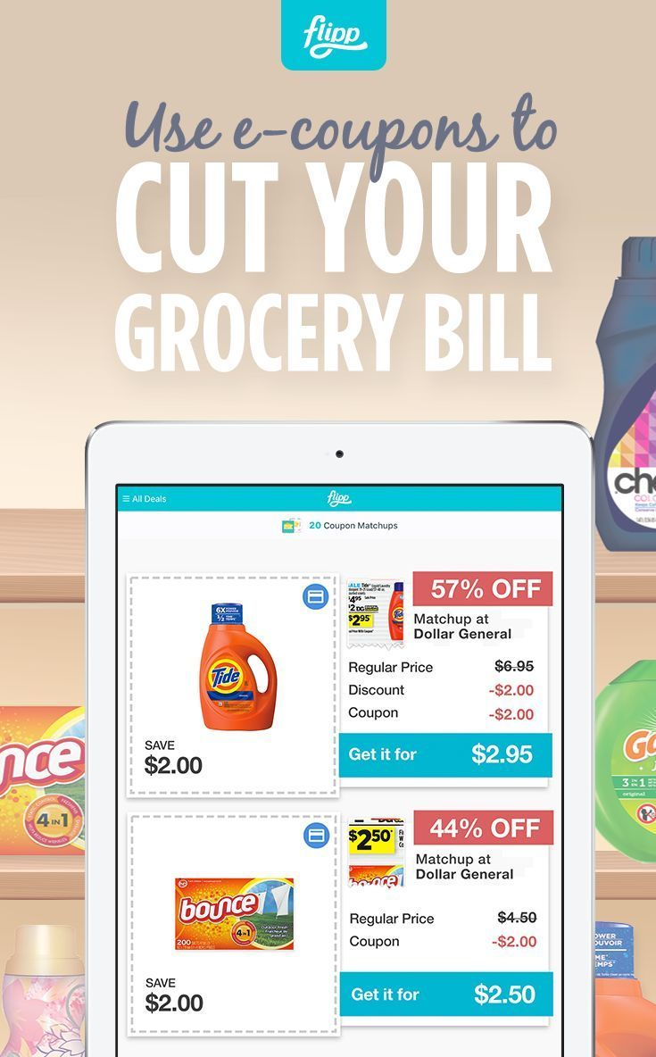 aa6d73ae74 Cut down on your grocery bill with e-coupons from Flipp. Load digital  coupons to your loyalty cards seamlessly and start saving. Download for  free.