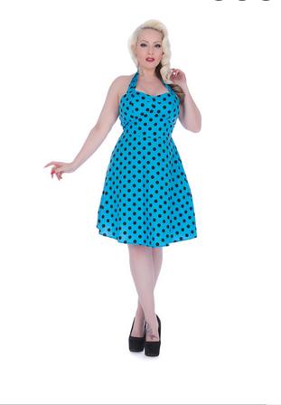 Voodoo Vixen Rockabilly 50S Retro Vintage Polka Dots Dress