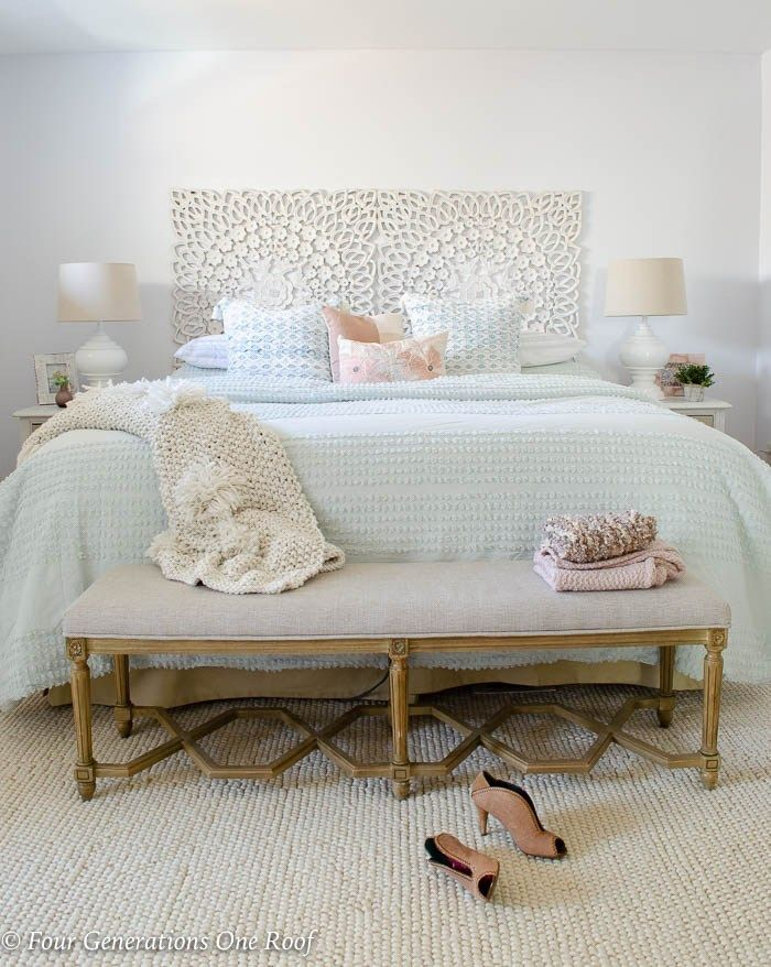 Best Diy Mint Green Master Bedroom Budget Makeover Green 400 x 300