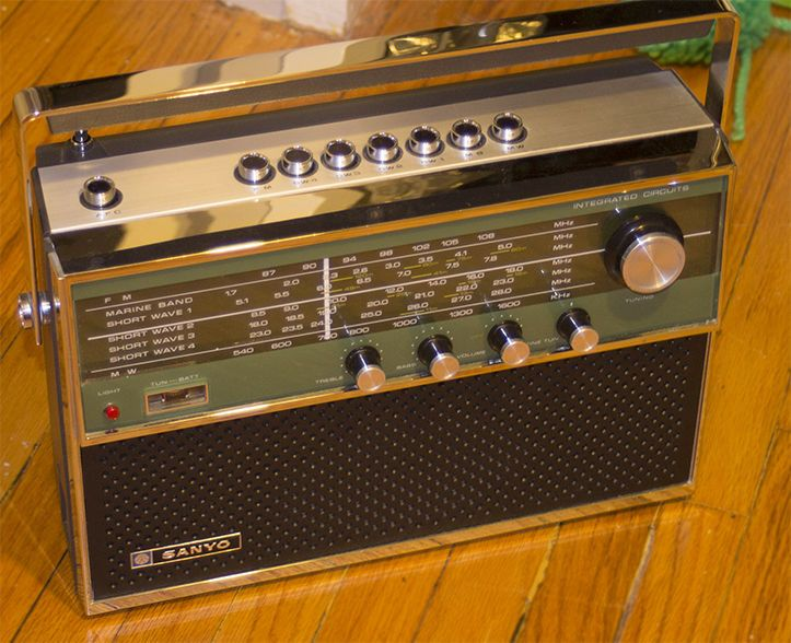 Sanyo Shortwave Radio 7 Bands Marine 16ha 862p Shortwave Radio Antique Radio Transistor Radio Vintage