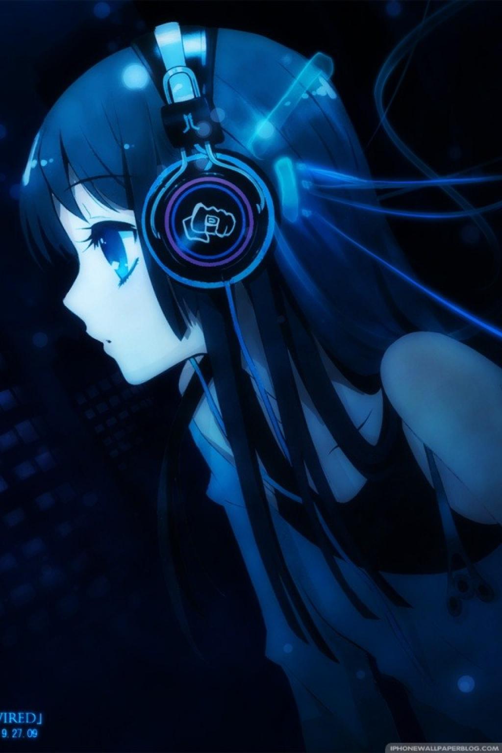 headphones girl Anime kawaii, Animes wallpapers, Músicas