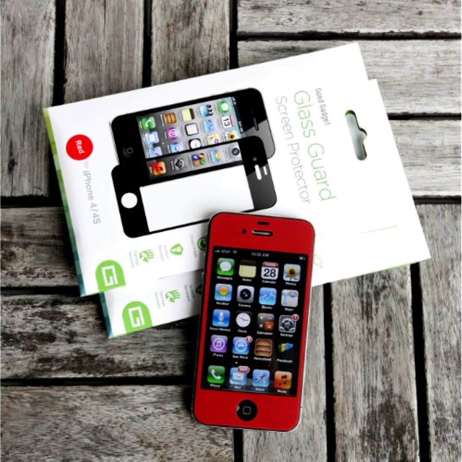 Good gadget iphone 44s glass screen protector redclear