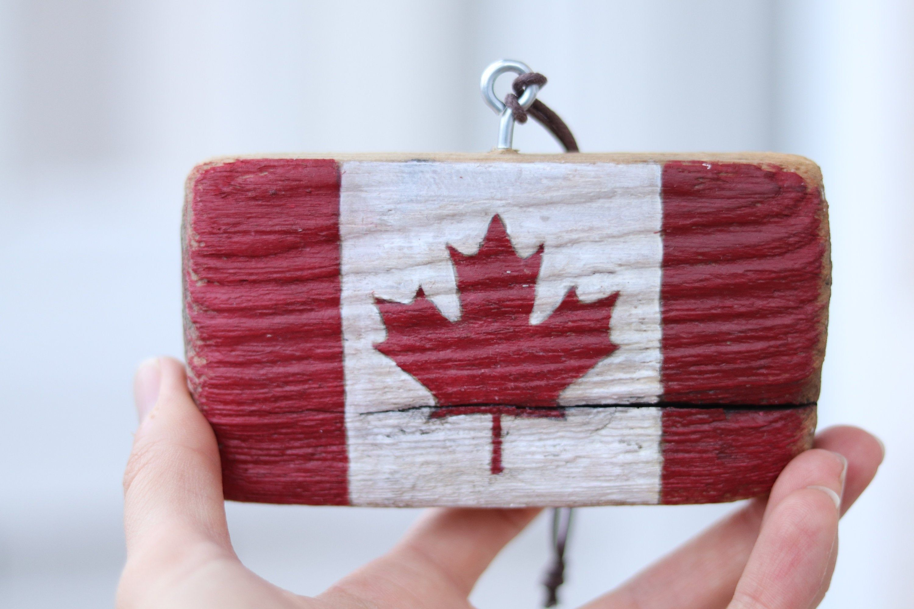 Canadian flag canadian tag new home gift hand painted