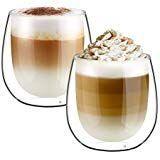 Glastal Doppelwand Latte Macchiato Glazier Set Kaffeeglasbecher zweiteilig ... #lattemacchiato