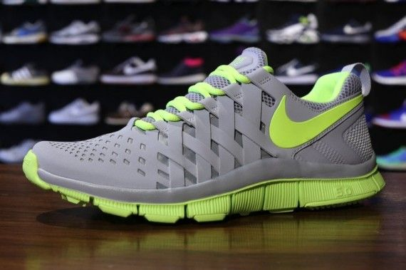 Nike Free 5.0+ Volt Black Cool Grey
