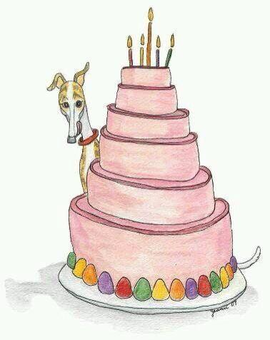 happy birthday greyhound art pinterest hunde und sch ner. Black Bedroom Furniture Sets. Home Design Ideas