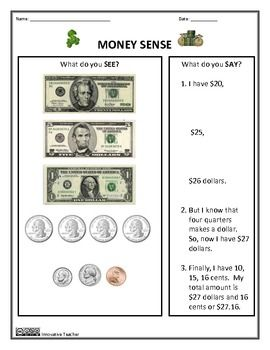 money worksheets money sense and making change coins teaching and money worksheets. Black Bedroom Furniture Sets. Home Design Ideas