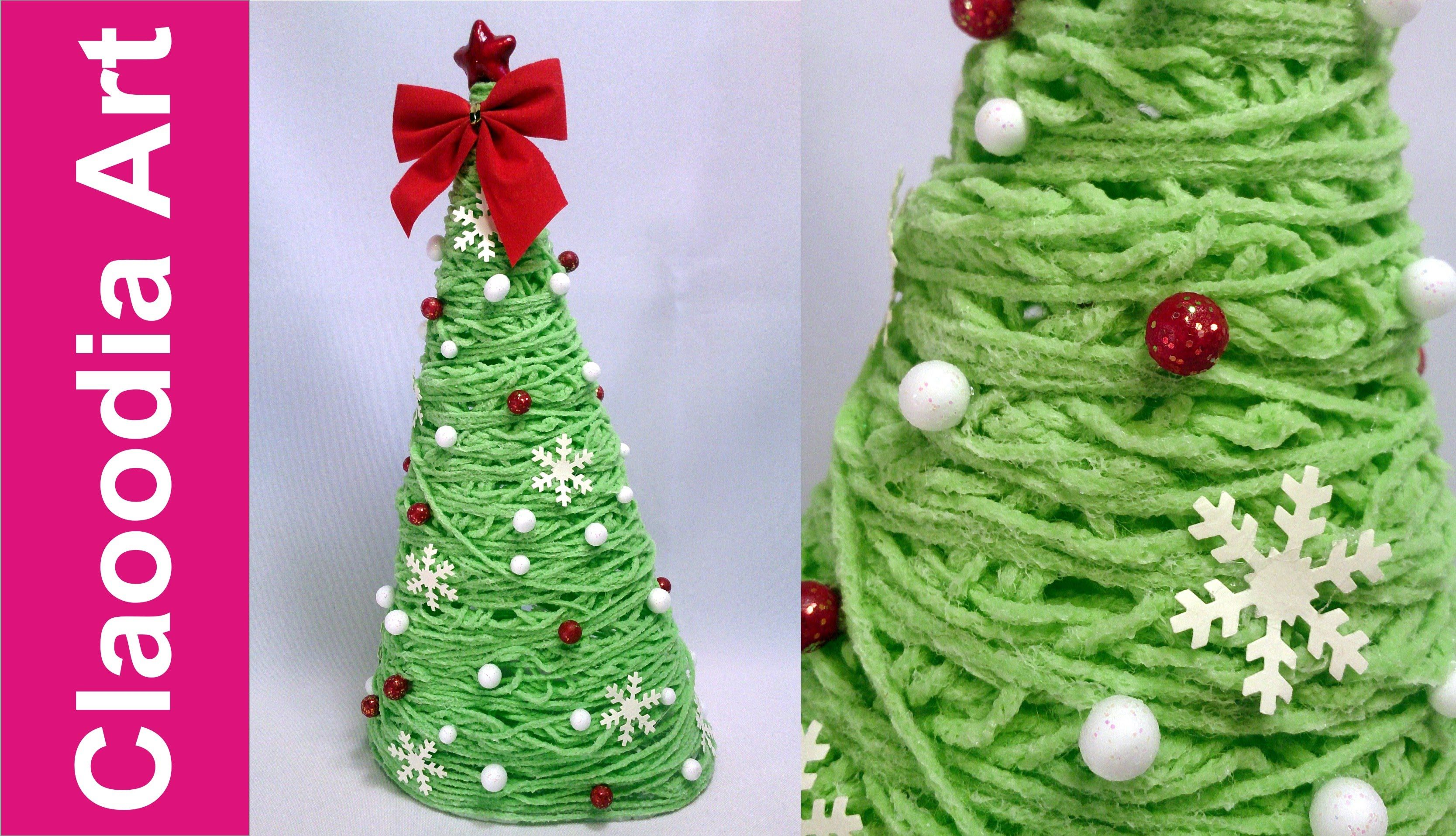 Árbol de Navidad con hilo
