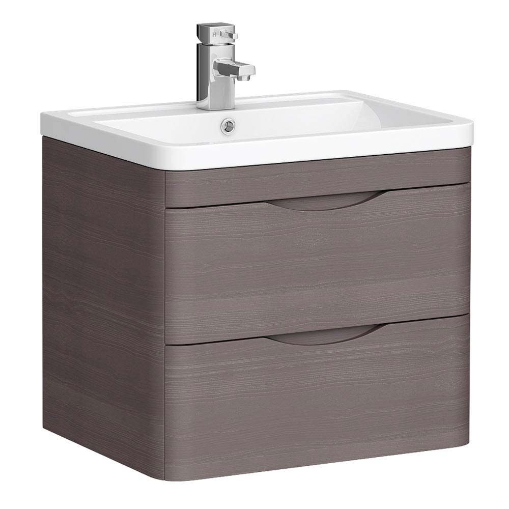 Monza 600mm Wall Hung 2 Drawer Vanity Unit From Victorian Plumbing Vanity Units Vanity Wall Hung Vanity