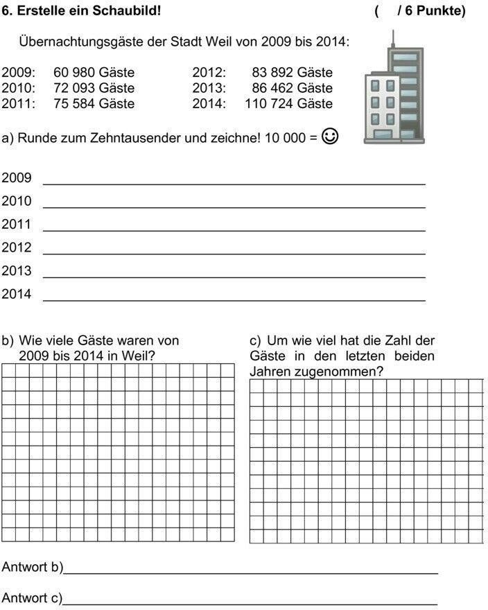 Mathe Probe 4.Klasse Zahlenraum 1.000.000 | Bildung | Pinterest ...