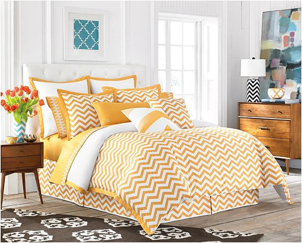 20 Yellow Duvet Sets For A Happy And Gaiety Bedroom Home Design Lover Chevron Duvet Covers Bed Duvet Covers Yellow Duvet