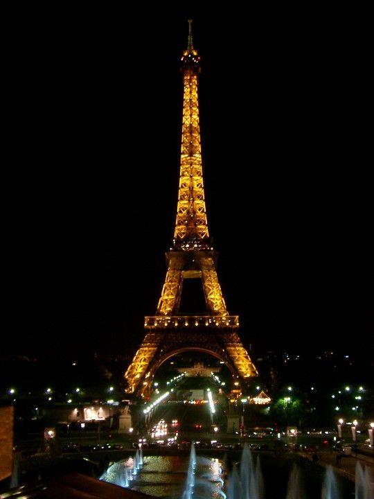 Eiffel Tower in Paris.   Such a romantic place. Just like most of us, I too want to spend a night there with my loved ones just staring at it and appreciating the beauty of the structure.