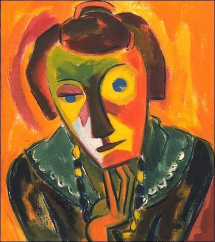 Portrait of Emy - Karl Schmidt-Rottluff