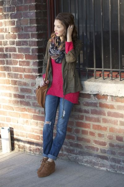 21f95ae689b patterned scarf TJ Maxx scarf - wedges TOMS shoes - Express jeans ...