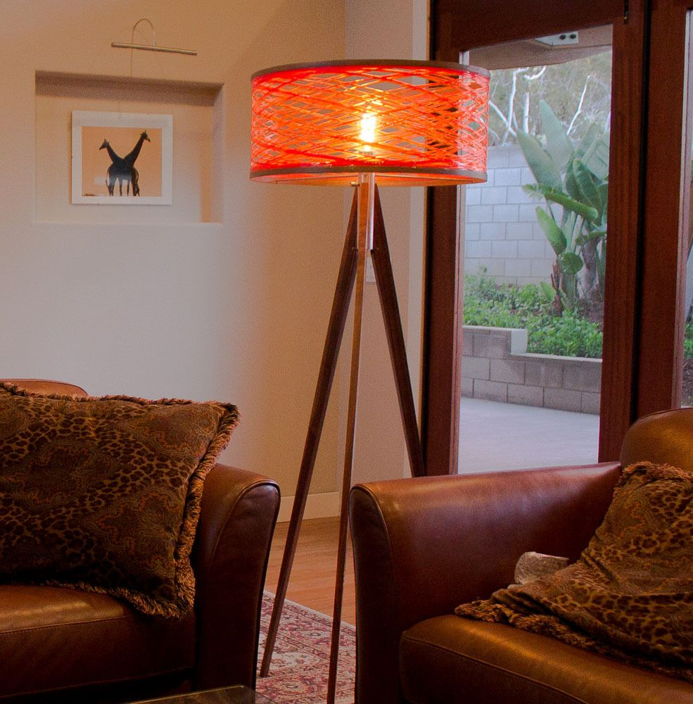 Sinuous Floor Lamp Orange floor lamps, Lamp, Tripod