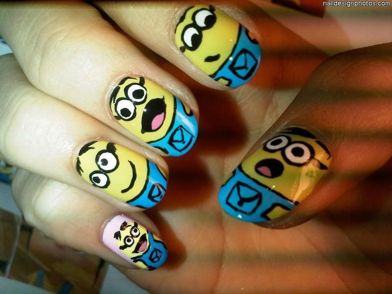Papoy from despicable me | Nailed It | Pinterest | Funky nail ...