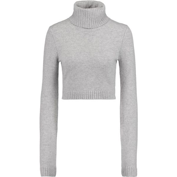 Michael Kors Collection Cropped cashmere turtleneck sweater ($195 ...