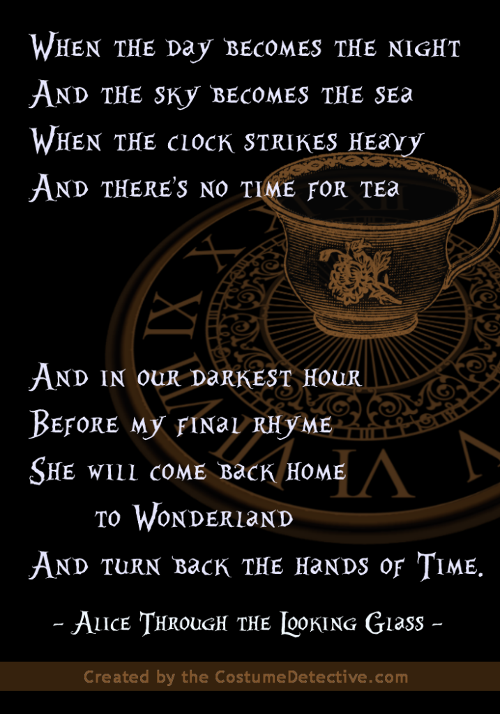 Alice Through The Looking Glass Trailer Poem Alice And