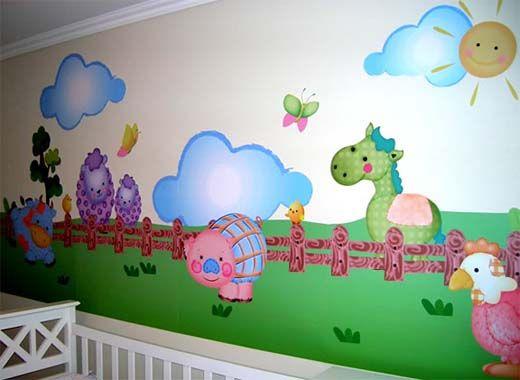 Pin de aida castrillon en murales infantiles pinterest - Murales para ninas ...