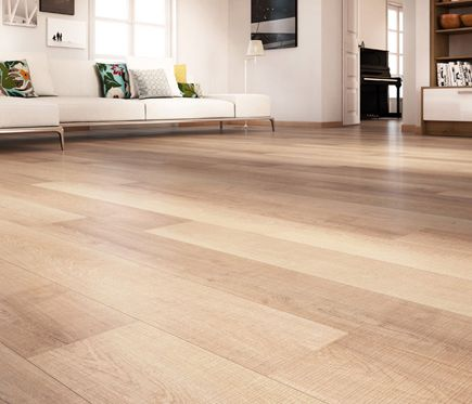 Suelo laminado roble sierra leroy merlin new flat en for Suelo laminado quick step leroy merlin