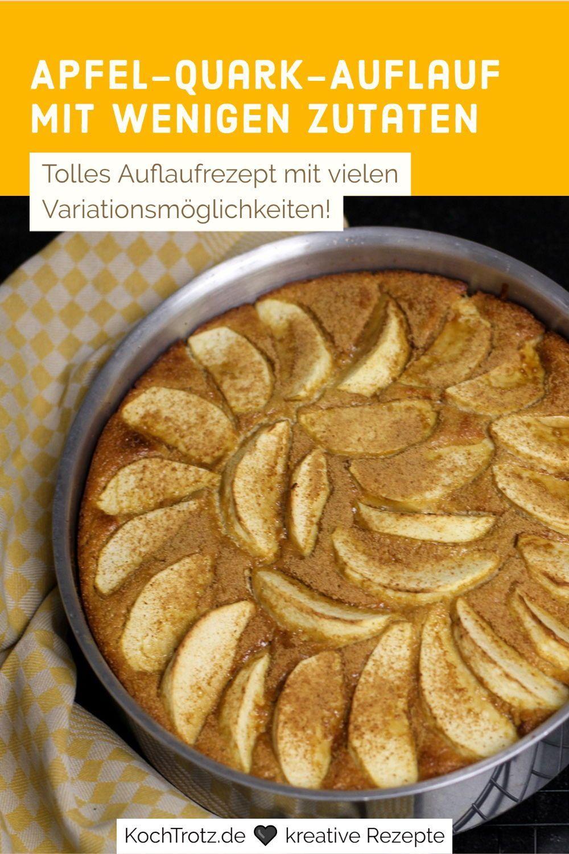 Apfel Quarkauflauf glutenfrei und low carb oder auch nicht