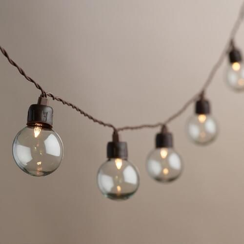 One Of My Favorite Discoveries At Worldmarket Clear Orb Solar Led 20 Bulb String Lights