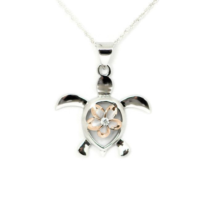 Sterling silver with rose gold alamea hawaii plumeria turtle pendant sterling silver with rose gold alamea hawaii plumeria turtle pendant accesorios de joyera los tortugas y joyeras aloadofball Choice Image