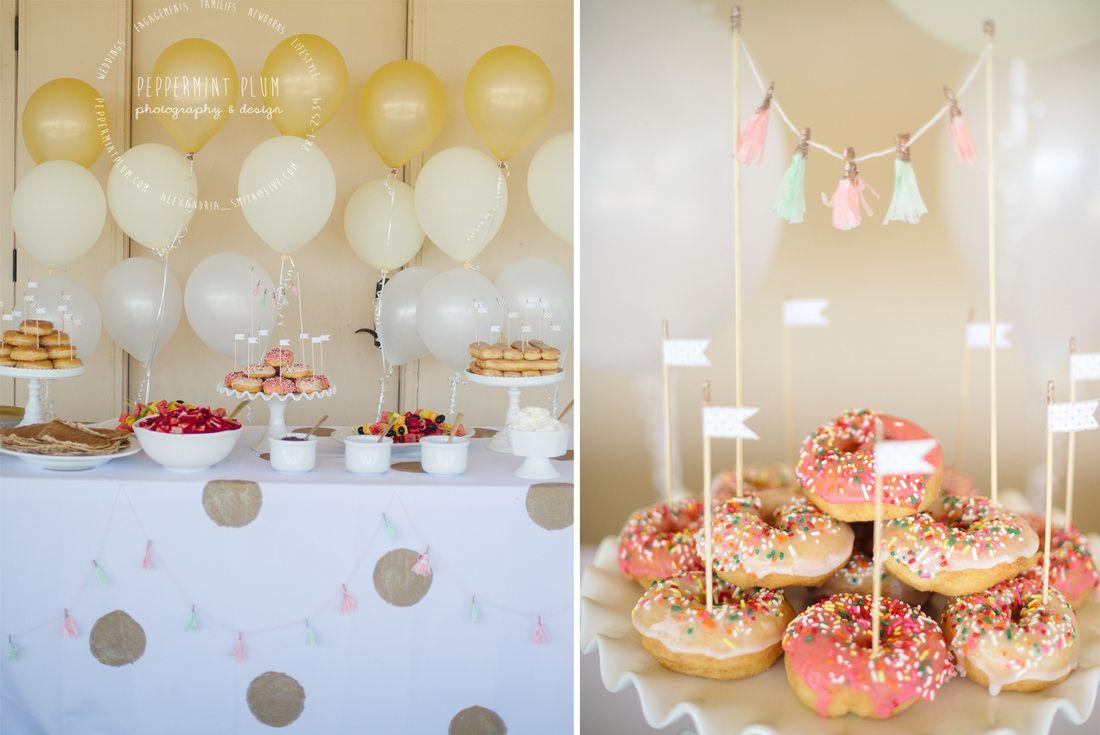 donut dessert buffet   Entertaining Ideas   Pinterest   Donuts ...