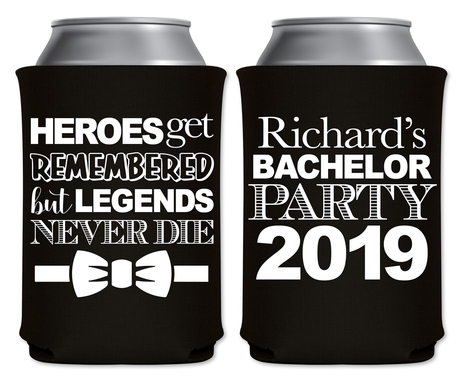Bachelor party favors groomsmen gifts beer can coolers